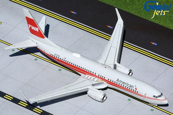 Gemini200 American 737-800W 1/200 TWA Heritage Flaps Extended Reg# N915NN