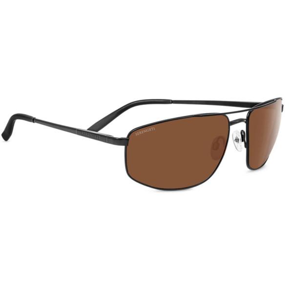 Serengeti Modugno Sunglasses - Matte Black, Mineral Polarized