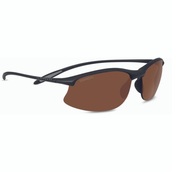 Serengeti Maestrale Sunglasses - Matte Black, Polarized Drivers
