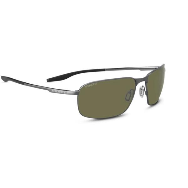 Serengeti Varese Sunglasses - Brushed Gunmetal, Polarized Drivers 555nm