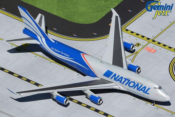 GeminiJets National 747-400BCF 1/400 Reg# N952CA