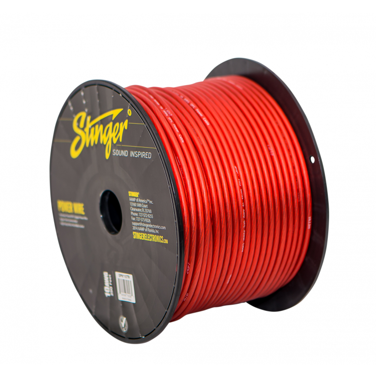 25 Foot Cut of Stinger Red Pro Series 4 Gauge AWG Pure Copper Power Wire SPW14TR