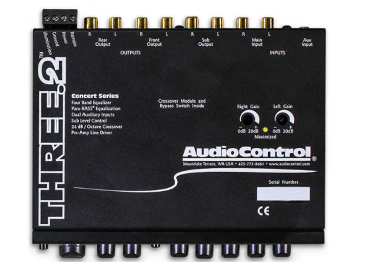 AudioControl Three 2 In-Dash Equalizer/Crossover with Aux Input