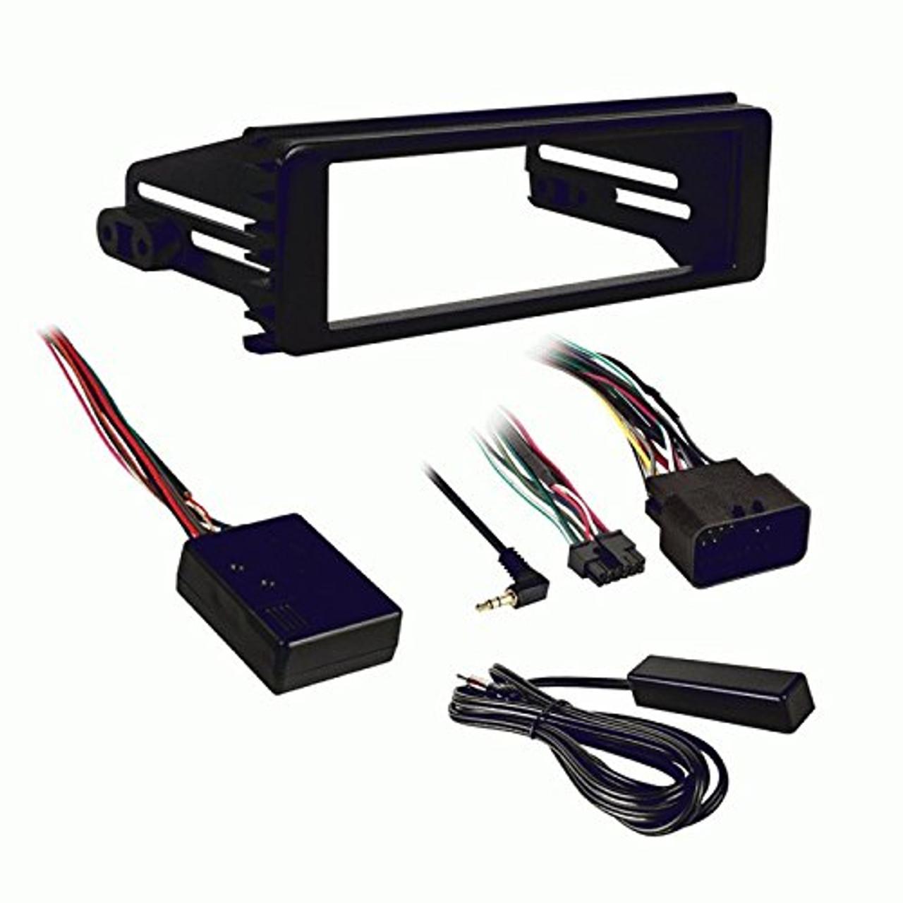 Metra 99-9613 1998-2013 Harley Davidson Stereo Install Kit w/ Handlebar on