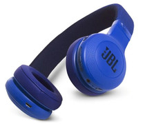JBL E45BT Blue wireless on-ear headphones