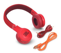 JBL E45BT Red wireless on-ear headphones