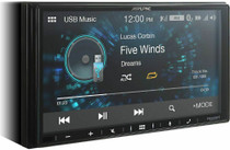 "Alpine iLX-W650 7"" Mech-Less Receiver Compatible with Apple CarPlay and Android Auto"