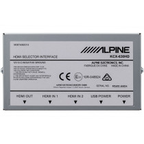 Alpine KCX-630HD HDMI Selector Interface