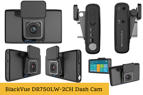 BlackVue DR750LW-2CH Touchscreen Dash Cam with Dual-Lens 1080p