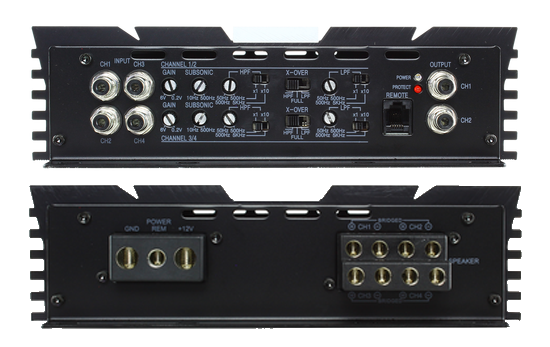 4 Channel Amplifiers