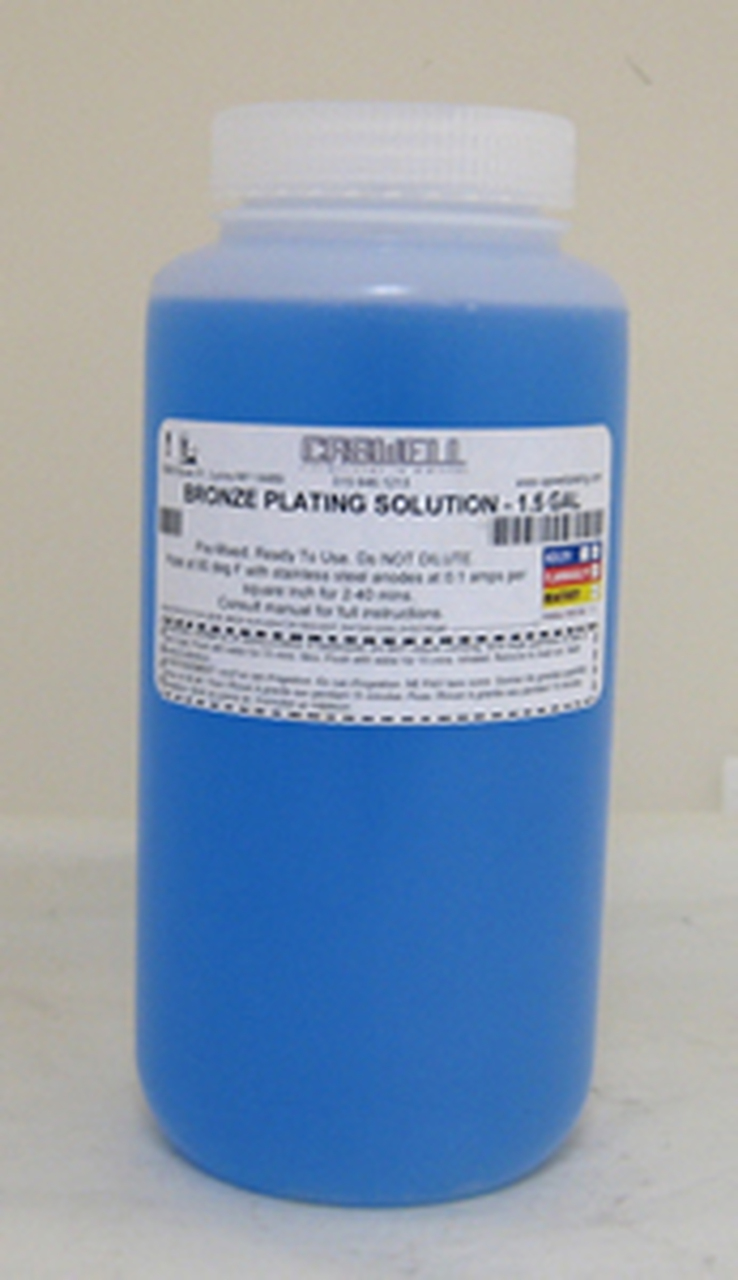 BRONZE PLATING SOLUTION - 1.5 GAL