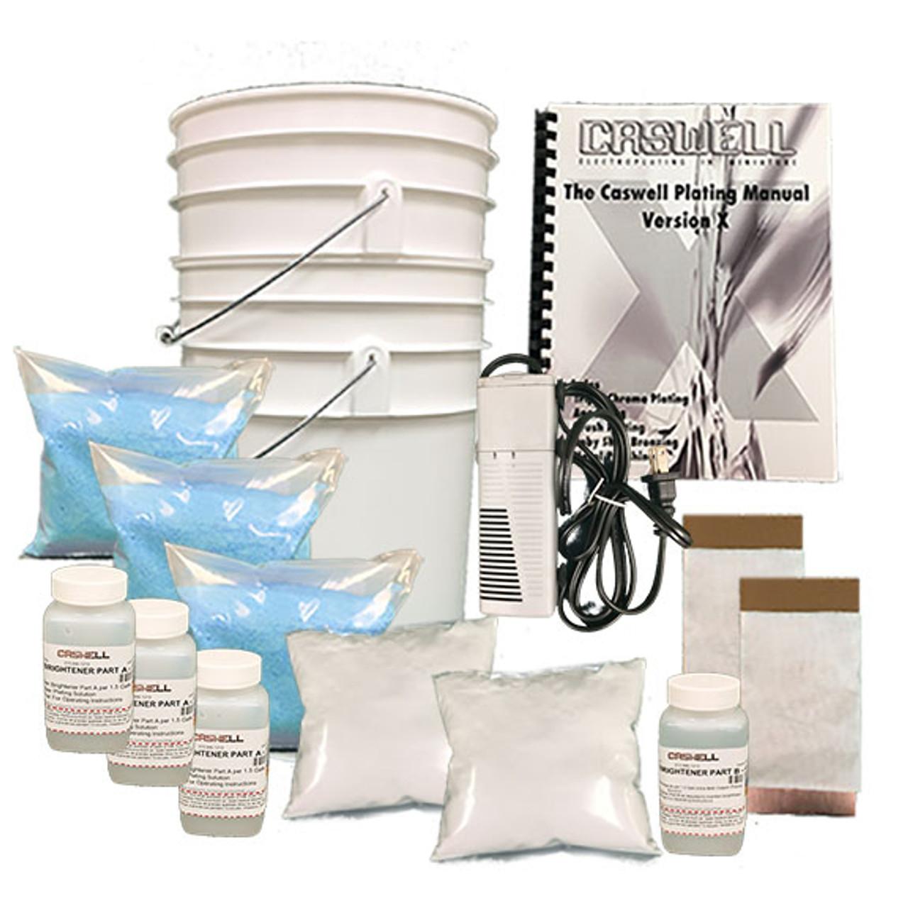 Bright Acid Copper Plating Kit - 4.5 Gal