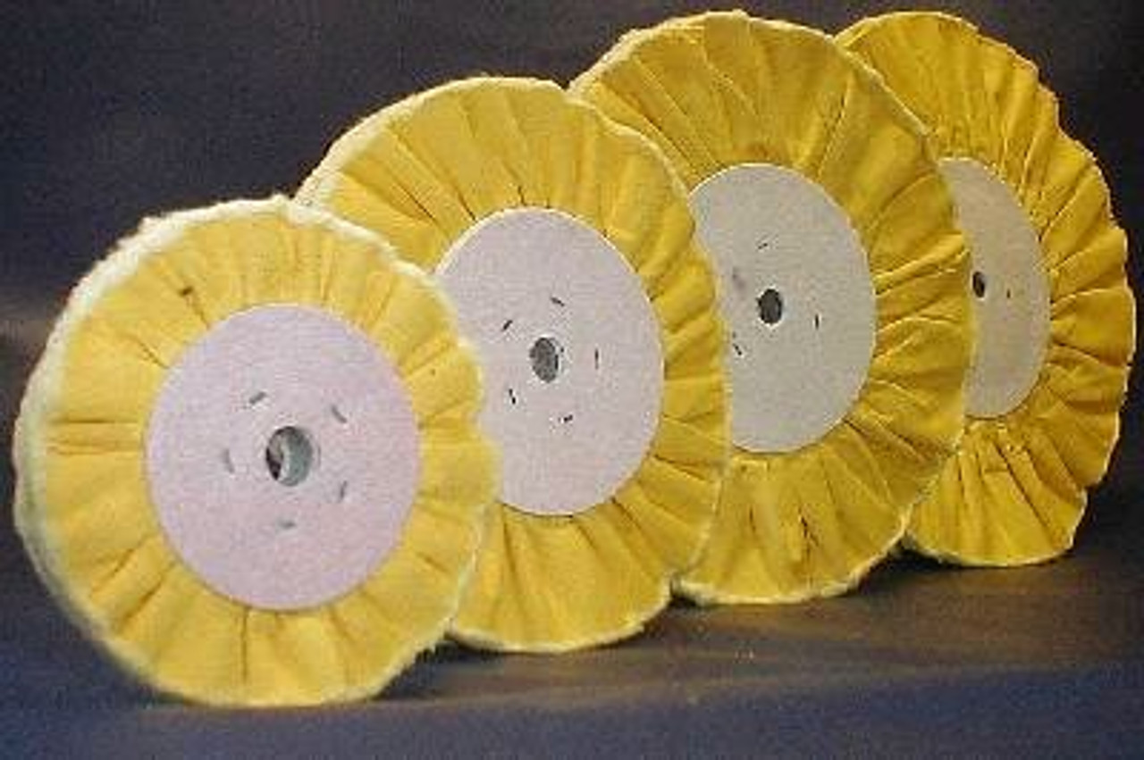 """TREATED VENTED BUFFING WHEEL - 6"""" X 1/2"""""""