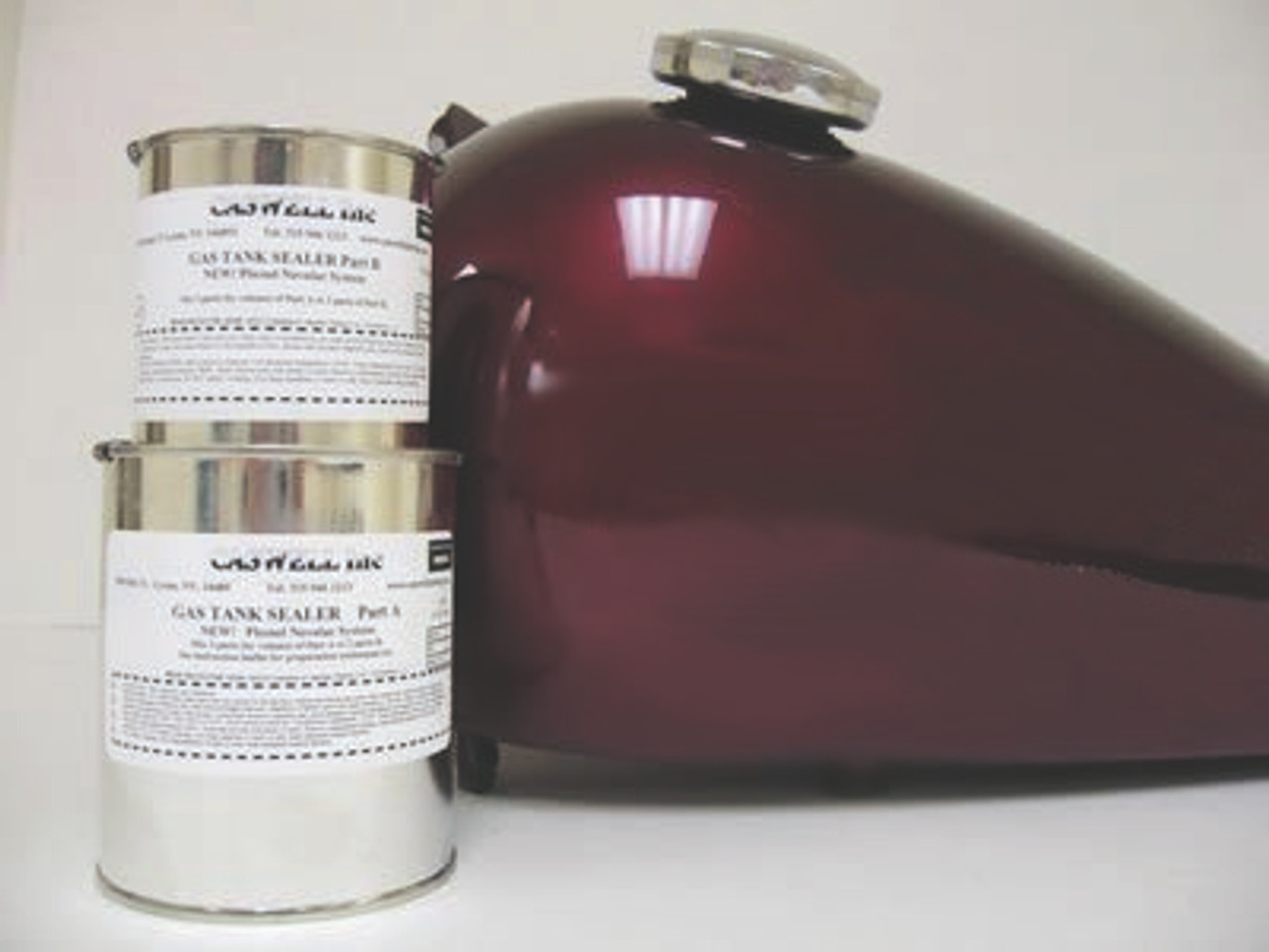 Caswell Epoxy Gas Tank Sealer - All Sizes & Colors
