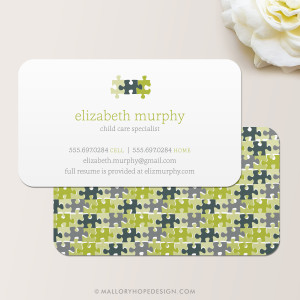 Puzzle Pieces Business Card