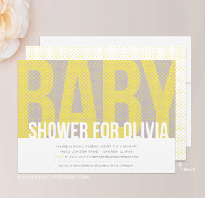 Polka Dots Baby Shower Invitation