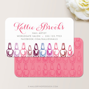Nail Artist Business Card, Nail Salon Business Card
