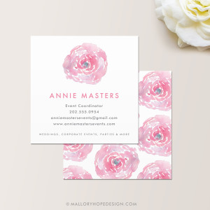 Watercolor Square Business Card