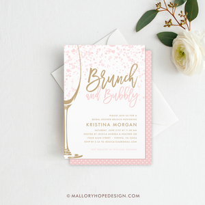 Brunch & Bubbly Bridal Shower Invitation