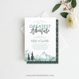 Mountain Baby Shower Invitation