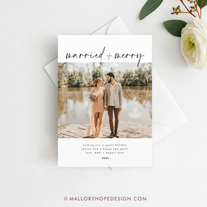 Married & Merry Photo Holiday Card