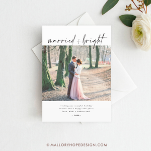 Married & Bright Photo Holiday Card