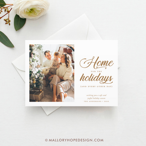 Home for the Holidays Covid Photo Holiday Card