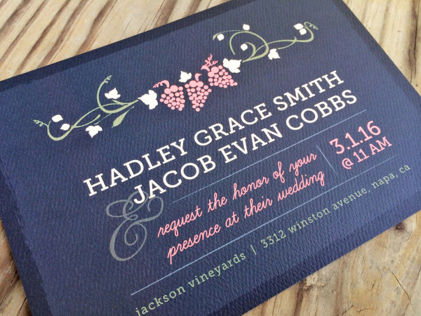 Napa Nuptials Wedding Invitation