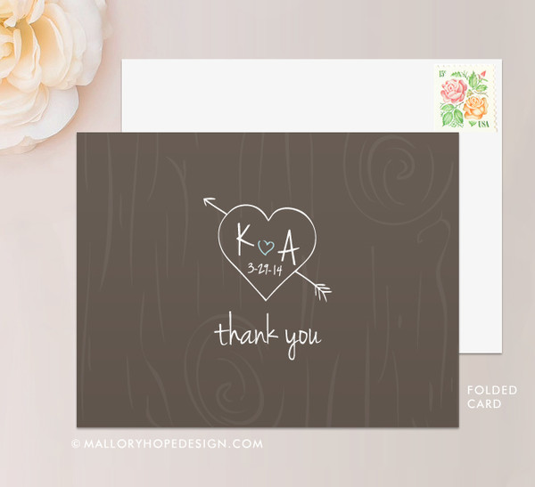 Tree Carving Stationery or Thank You Card