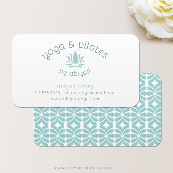 Yoga Instructor Business Card - Mallory Hope Design