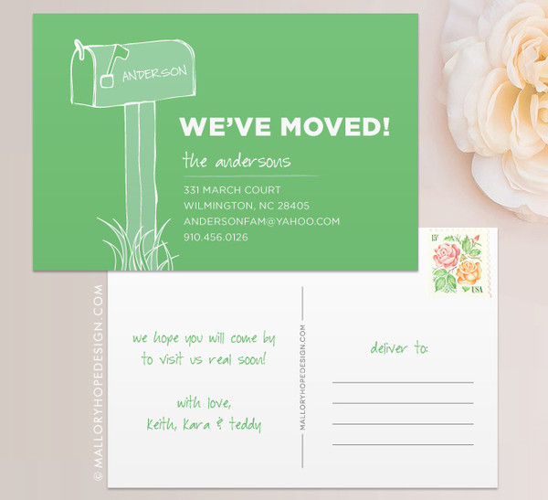 Mailbox Moving Announcement