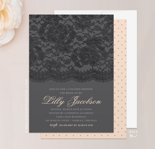 Lacey Lingerie Bridal Shower Invitation