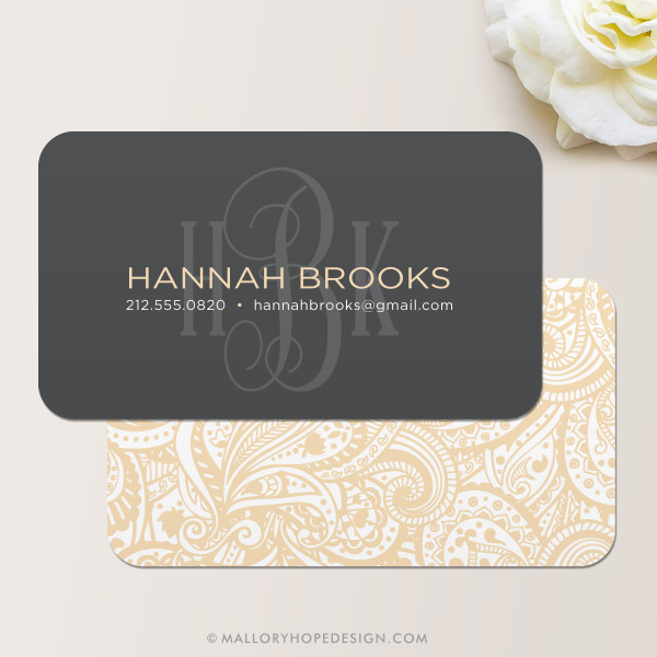 Monogram Business Card