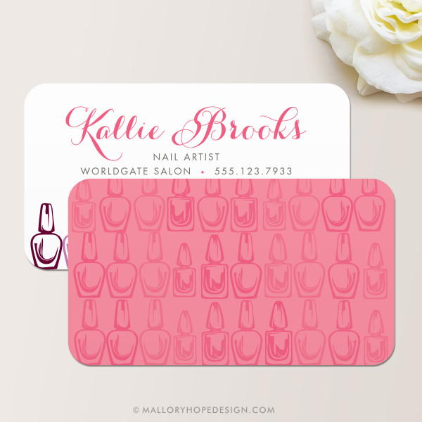 Nail Artist Business Card, Nail Salon Business Card Back