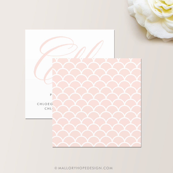Grace Makeup Artist or Cosmetologist Square Business CardBack