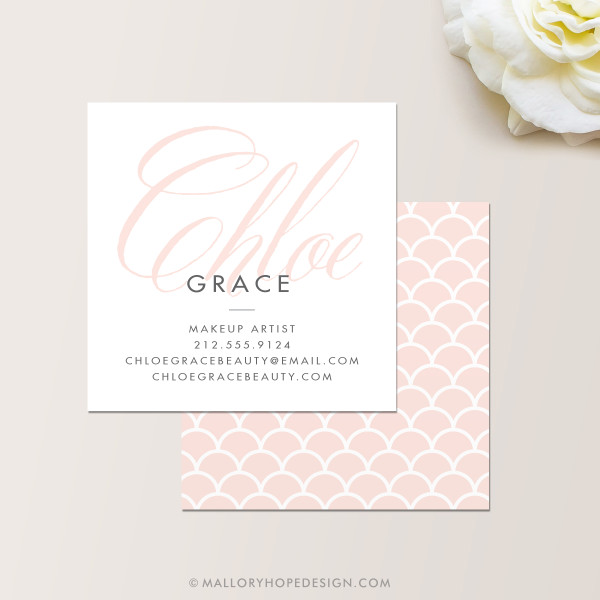 Grace Makeup Artist or Cosmetologist Square Business Card