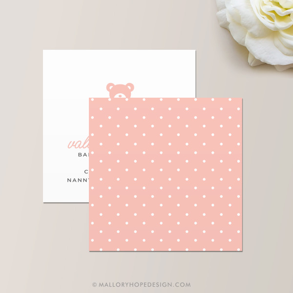 Nanny or Babysitter Square Business Card Back