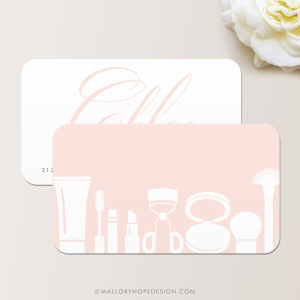 Grace Makeup Artist or Cosmetologist Business Card Back