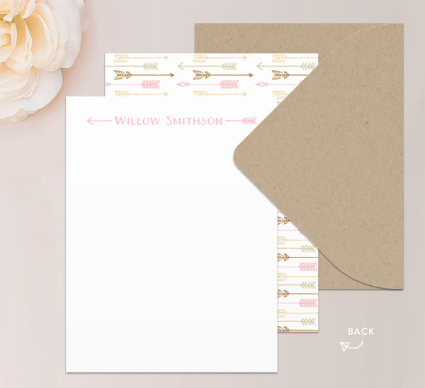 Arrow Note Card Stationery