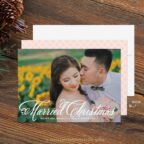 Married Christmas Photo Holiday Card