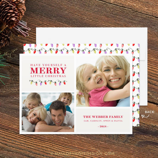 Double Photo Holiday Card