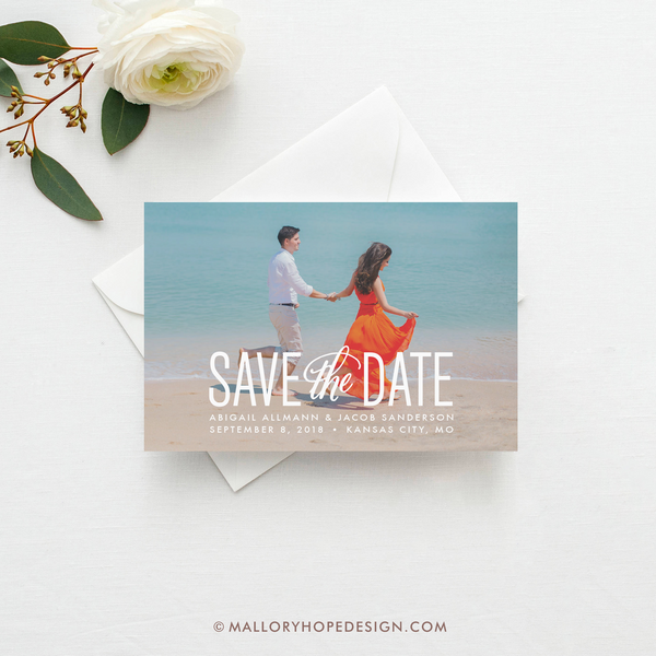Simply Stated Photo Save the Date