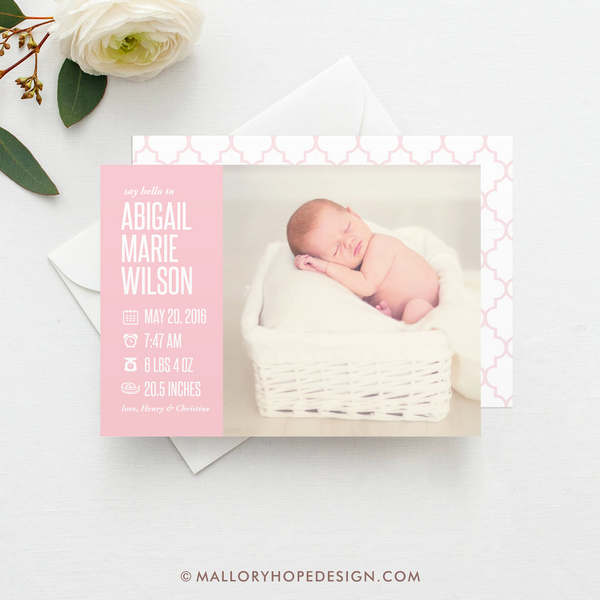 Icons Photo Birth Announcement