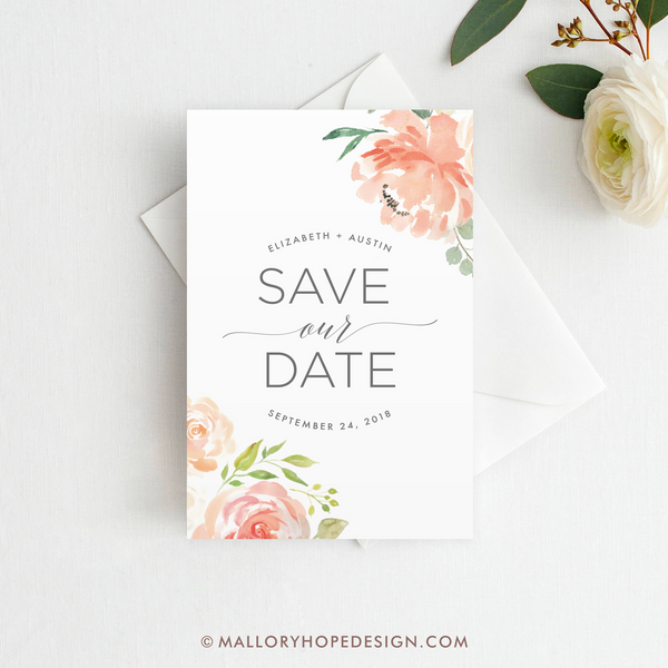 Floral Save Our Date