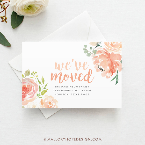 Floral Moving Announcement