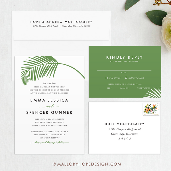 Tropical Wedding Invitation Suite