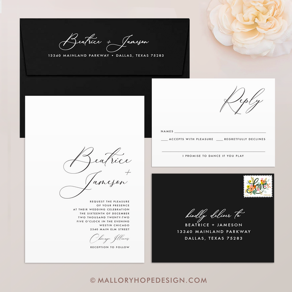 Minimalist Wedding Invitation Suite