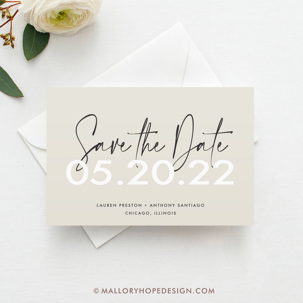 Marker Save the Date