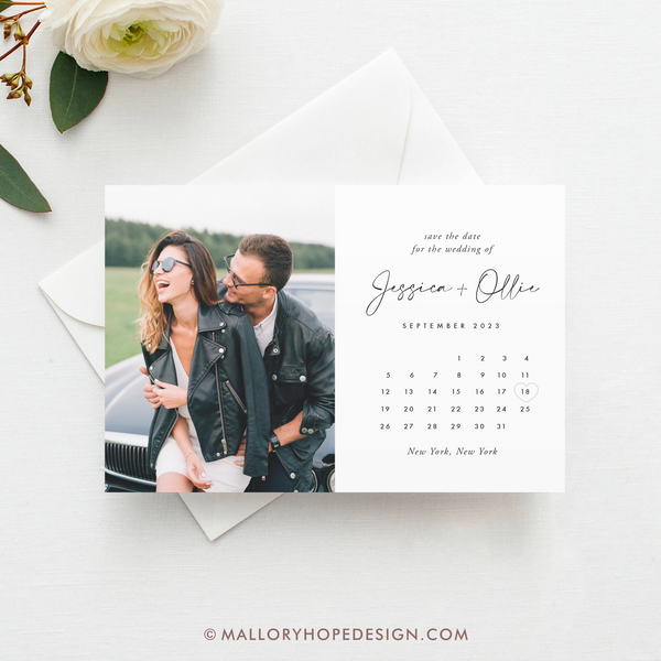 Simple Calendar Photo Save the Date