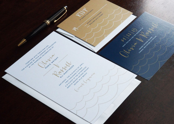 Ocean Wave Wedding Stationery